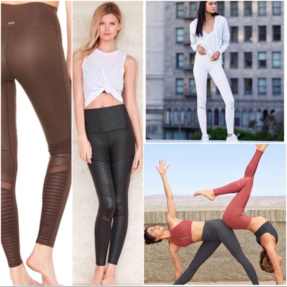5dc0217cdeb6d ALO Yoga Pants | 5celebrity Alo Moto Mink Mink Dk Brown Legging ...
